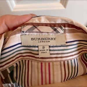 Burberry women's striped cotton fitted shirt